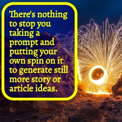 You can put your own spin on writing prompts and generate more ideas