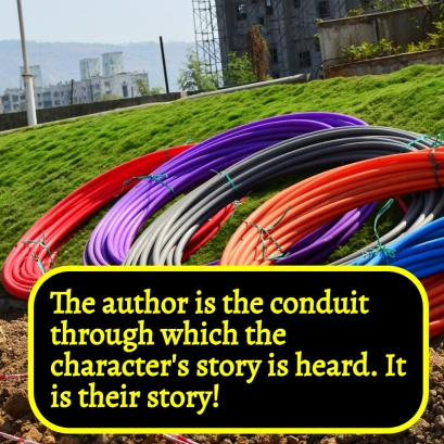 AVBI - The author is the conduit for the character's story