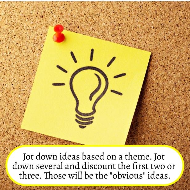 Jot down ideas based on a theme