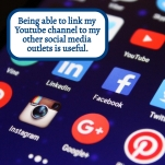 Linking my Youtube channel to my other social media outlets is useful