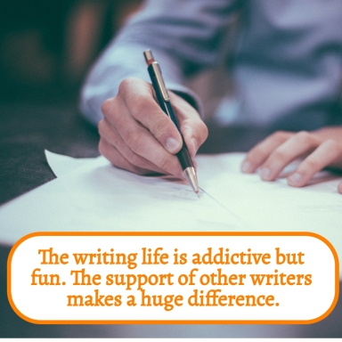 The writing life is addictive