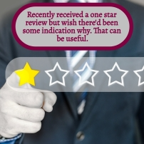 AE - August 2021 - Recently received one star review but no comments with it