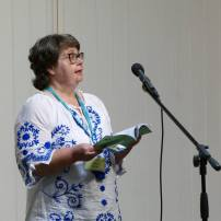 Geoff Parkes took this image of me reading at one Swanwick Open Prose Mic Night.