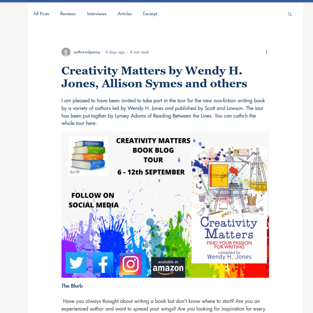 Screenshot 2021-09-14 at 20-49-54 Creativity Matters by Wendy H Jones, Allison Symes and others
