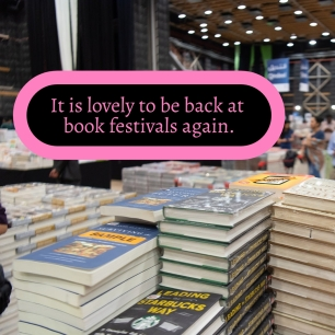 AE - Nov 2021 - It is good to be back at book festivals