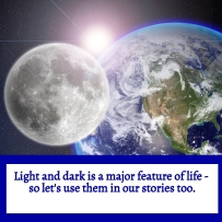 Image - Allison Symes - Light and Dark is a feature of life so let's use it in fiction