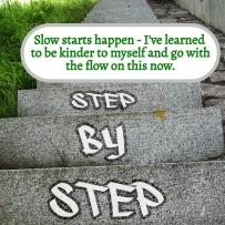 WRITING NIGGLES - Slow starts happen